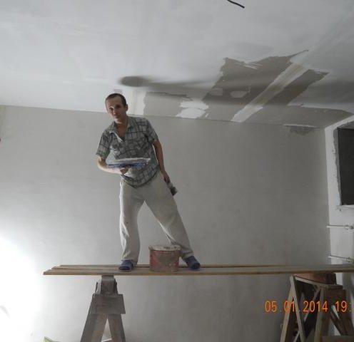 Шпаклёвка потолков